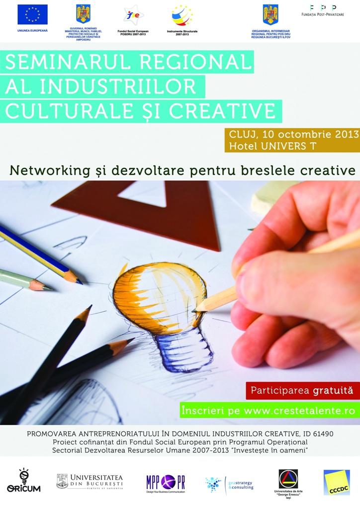 Seminar regional dedicat tinerilor antreprenori creativi din Cluj