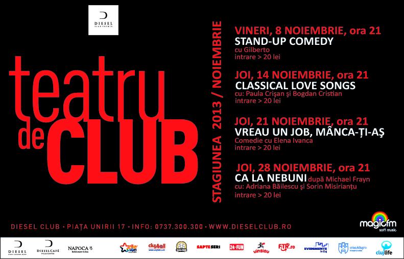 Teatru de club – stagiunea lunii noiembrie