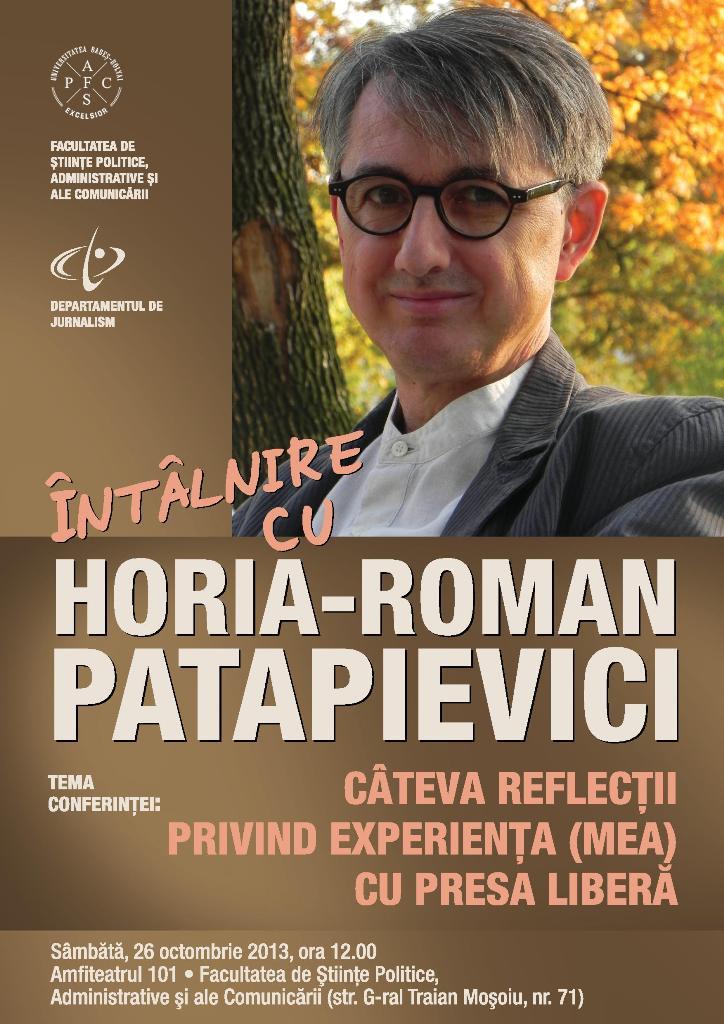 Întâlnire cu Horia-Roman Patapievici