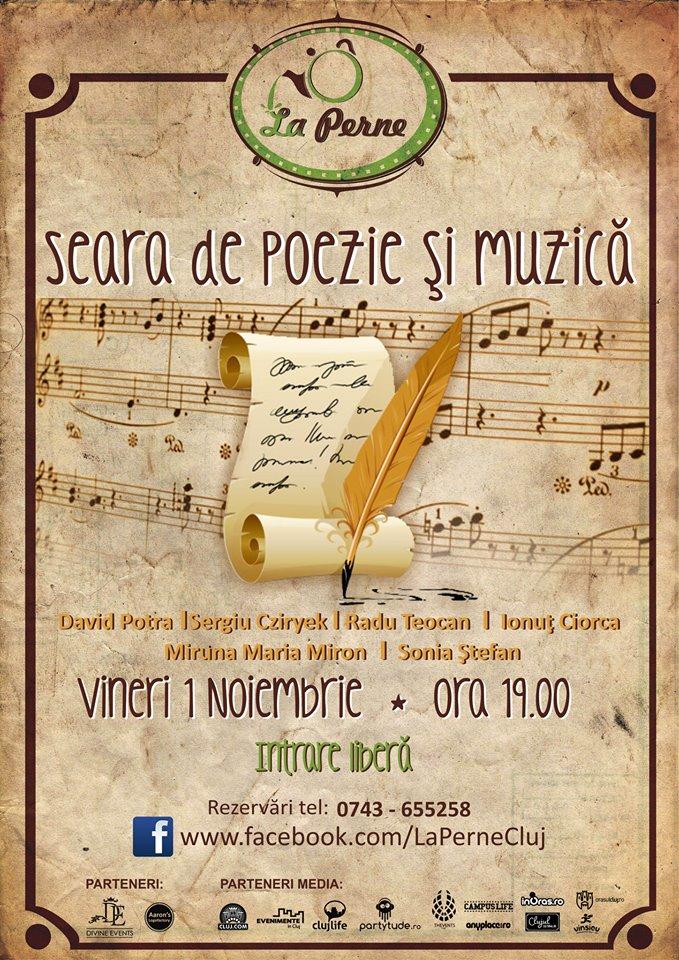 Seară de poezie şi muzică @ La Perne
