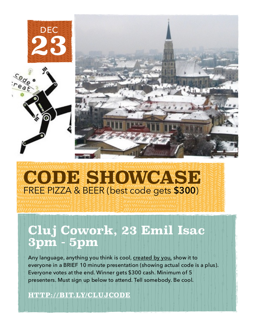 Code Showcase @ Cluj CoWork