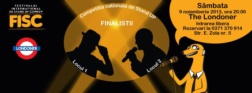 Finalistii Competitiei Nationale de Stand Up Comedy @ Londoner Pub