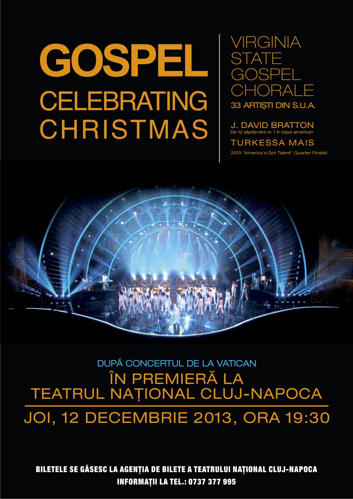 Virginia State Gospel Chorale @ Teatrul National Cluj-Napoca