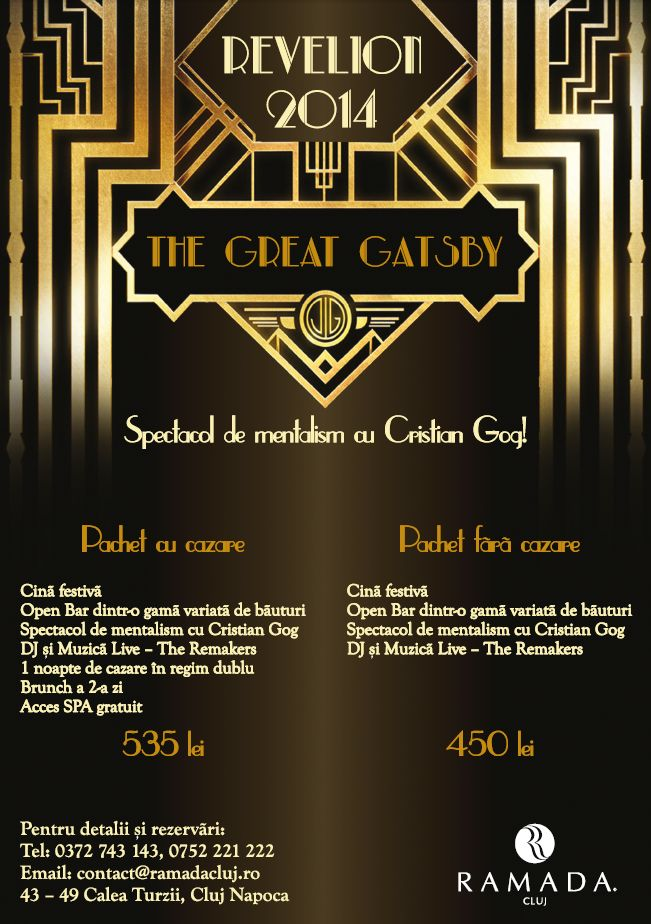 Revelion 2014 – The Great Gatsby @ Ramada Hotel