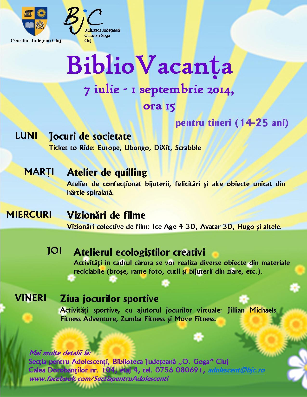 BiblioVacanta @ Biblioteca Octavian Goga
