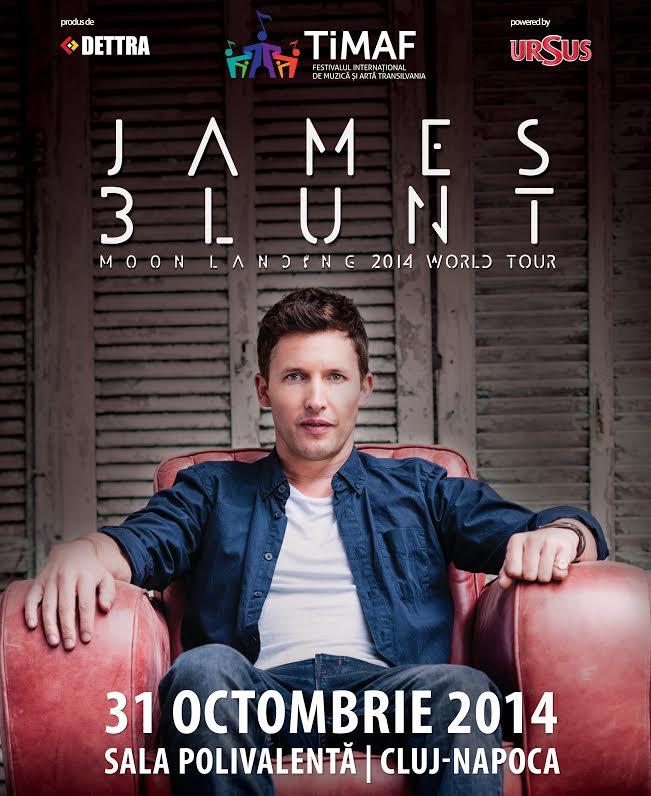 TiMAF 2014 anunţă punerea în vâzare a biletelor pentru concertul James Blunt