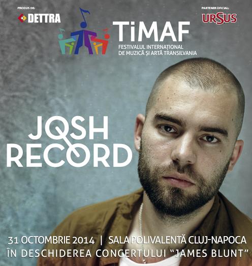 Josh Record, în deschiderea concertului James Blunt