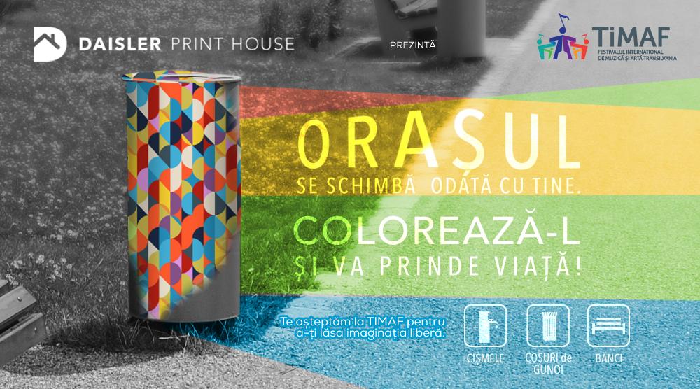 Împreună putem colora orașul!