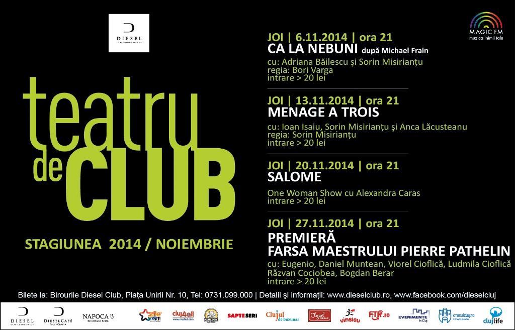 Teatru de Club – program Noiembrie @ Diesel Club