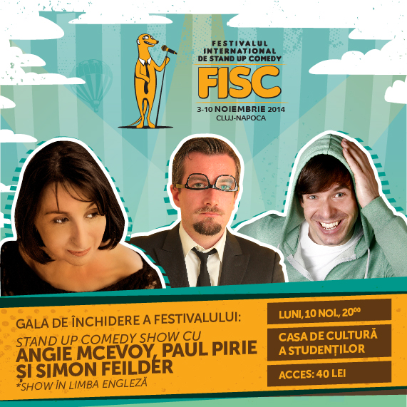 Stand-up Comedy cu Angie McEvoy, Paul Pirie și Simon Feilder