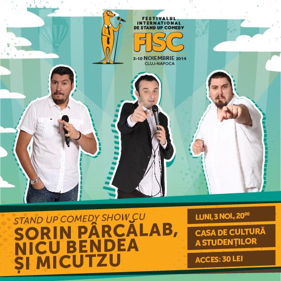 Stand-up Comedy cu Sorin Pârcălab, Nicu Bendea și Micutzu