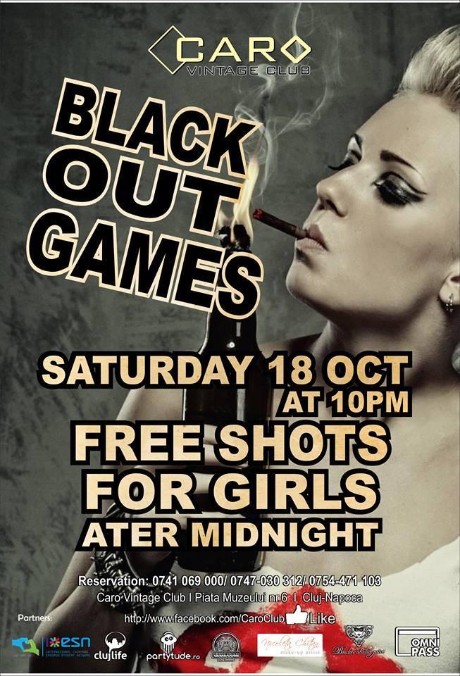 BlackOut Games @ Caro Club