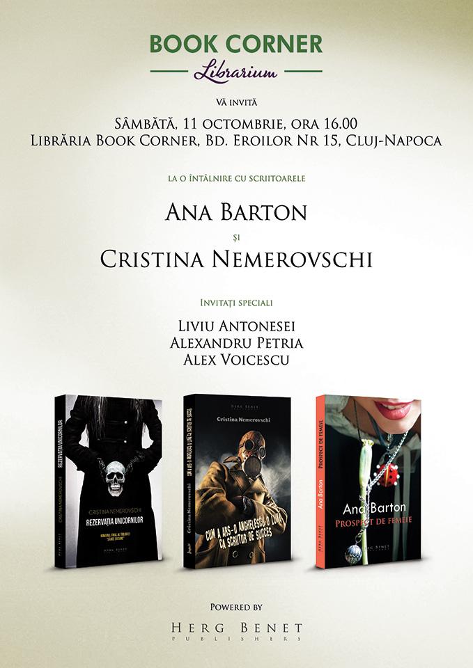 Cristina Nemerovschi și Ana Barton @ Book Corner