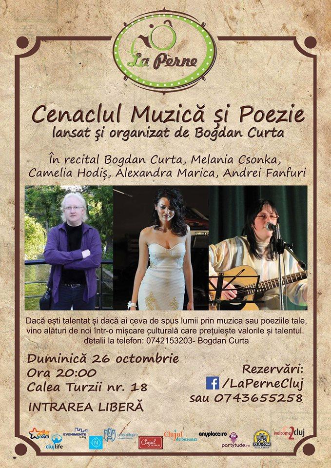 Cenaclul muzică și poezie @ La Perne