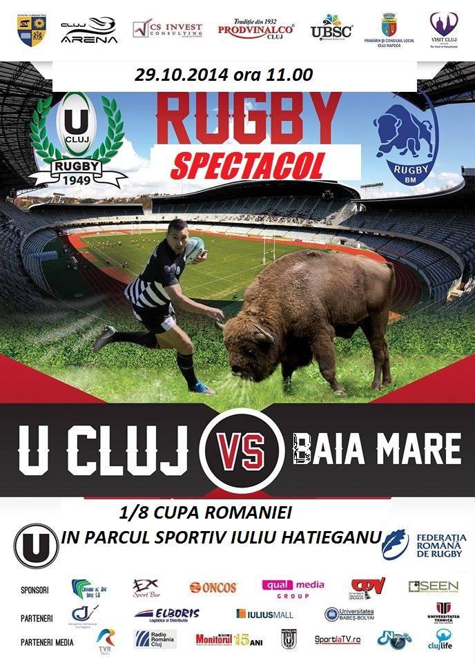 Rugby: U Cluj – CSM Baia Mare