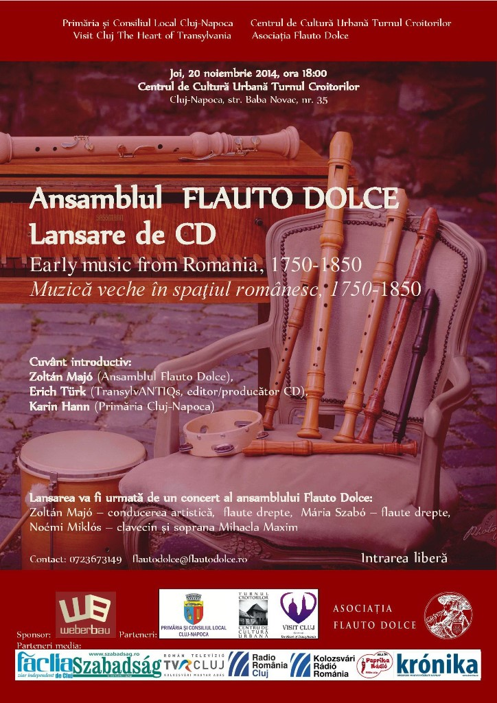 Ansamblul Flauto Dolce – Lansare CD