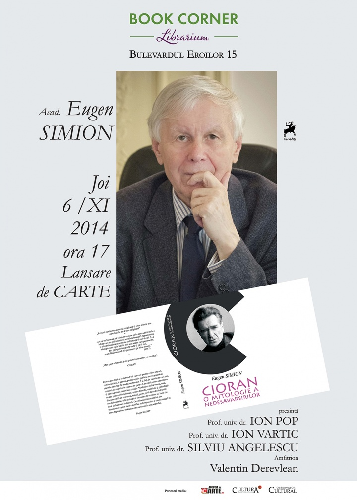 Eugen Simion – Lansare de carte @ Book Corner