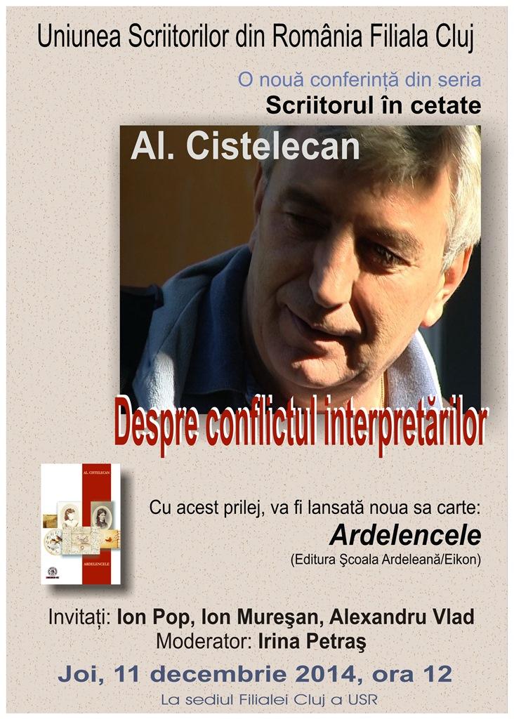 """Lansarea volumului """"Ardelencele"""" de Al. Cistelecan"""