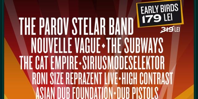 The Parov Stelar Band, Nouvelle Vague și The Subways vin la Electric Castle 2015