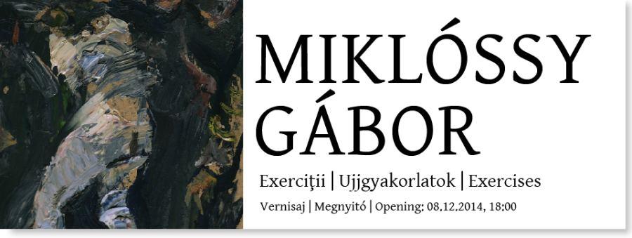 MIKLÓSSY Gábor – Exerciții @ Galeria Quadro