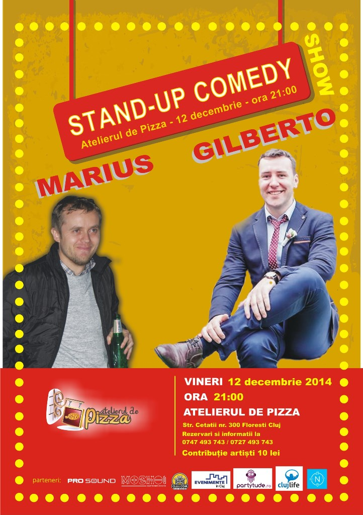 Stand-up comedy show cu Gilberto si Marius
