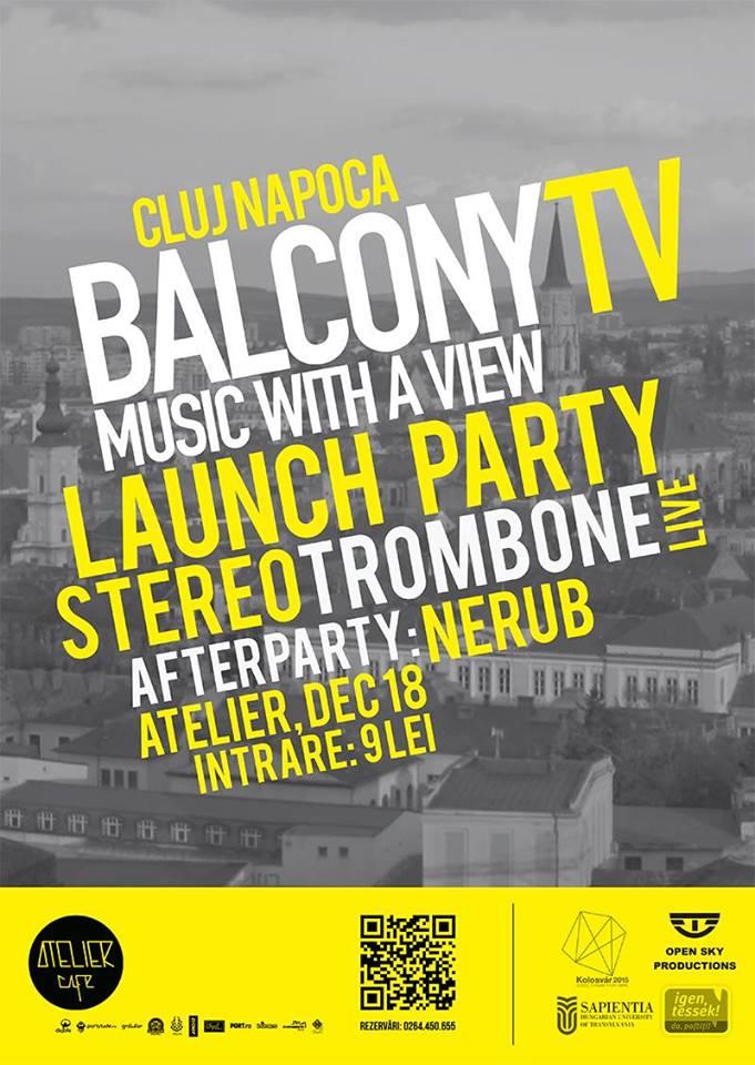 Lansare BalconyTV @ Atelier Cafe