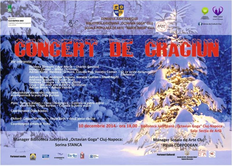 """Concert de Crăciun @ Biblioteca Judeteana """"Octavian Goga"""""""