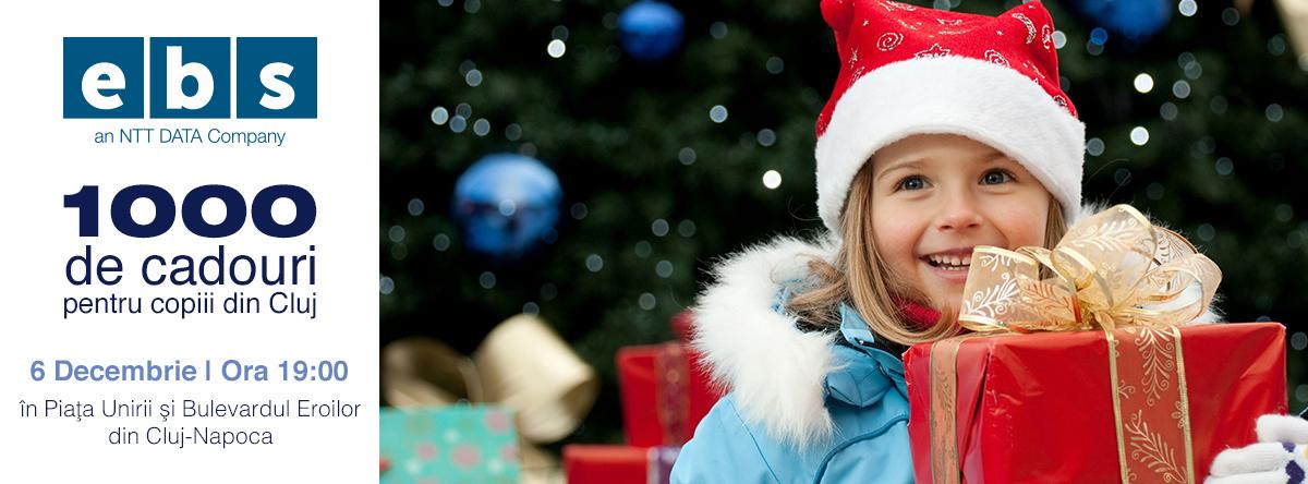 1000 cadouri pentru copiii din Cluj