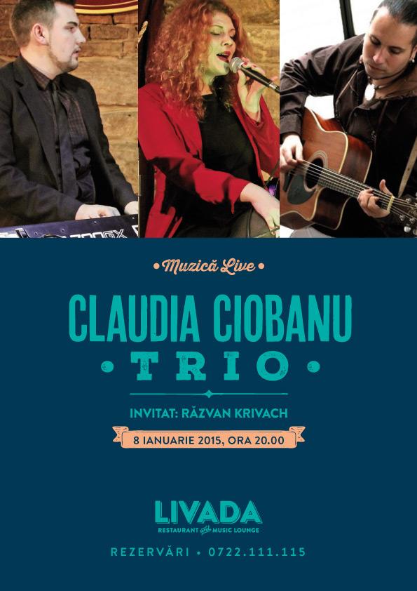 Claudia Ciobanu Trio @ Livada