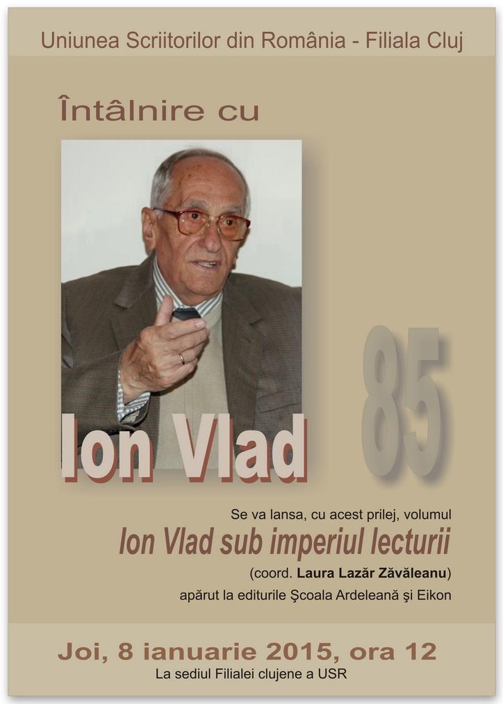 Întâlnire cu Ion Vlad