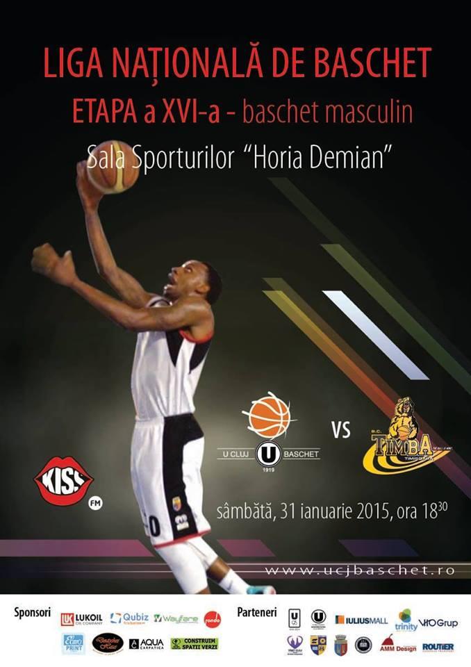 """U"" Cluj – BC Timba Timişoara @ Sala Sporturilor"