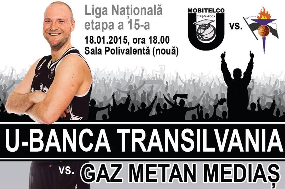 U – Banca Transilvania vs Gaz Metan Medias