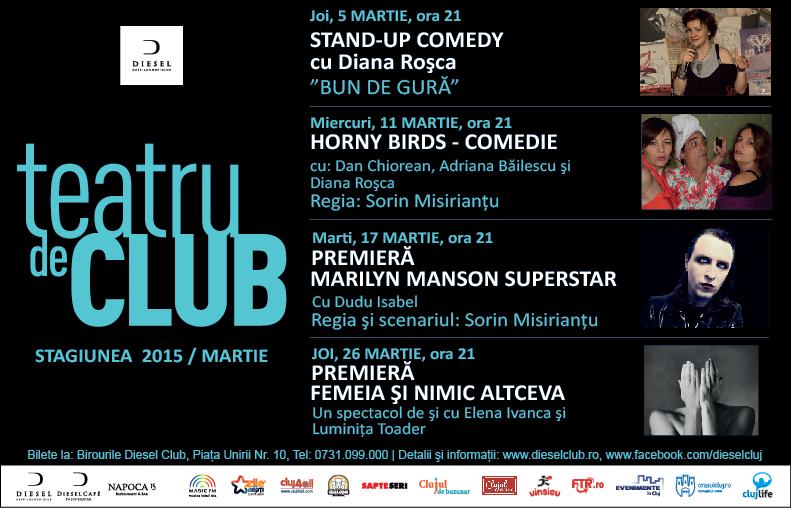 Teatru de Club – Stagiunea lunii martie 2015
