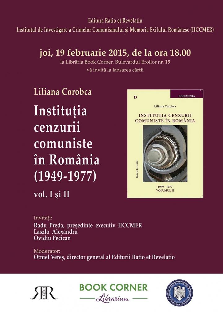 Instituţia cenzurii comuniste în România (1949-1977)