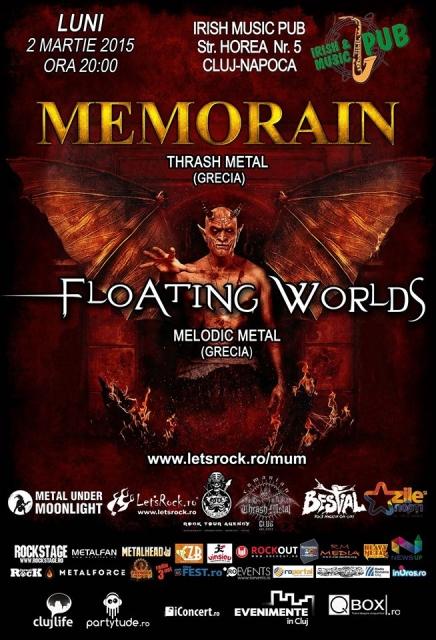 Memorain / Floatin Worlds @ Irish & Music Pub