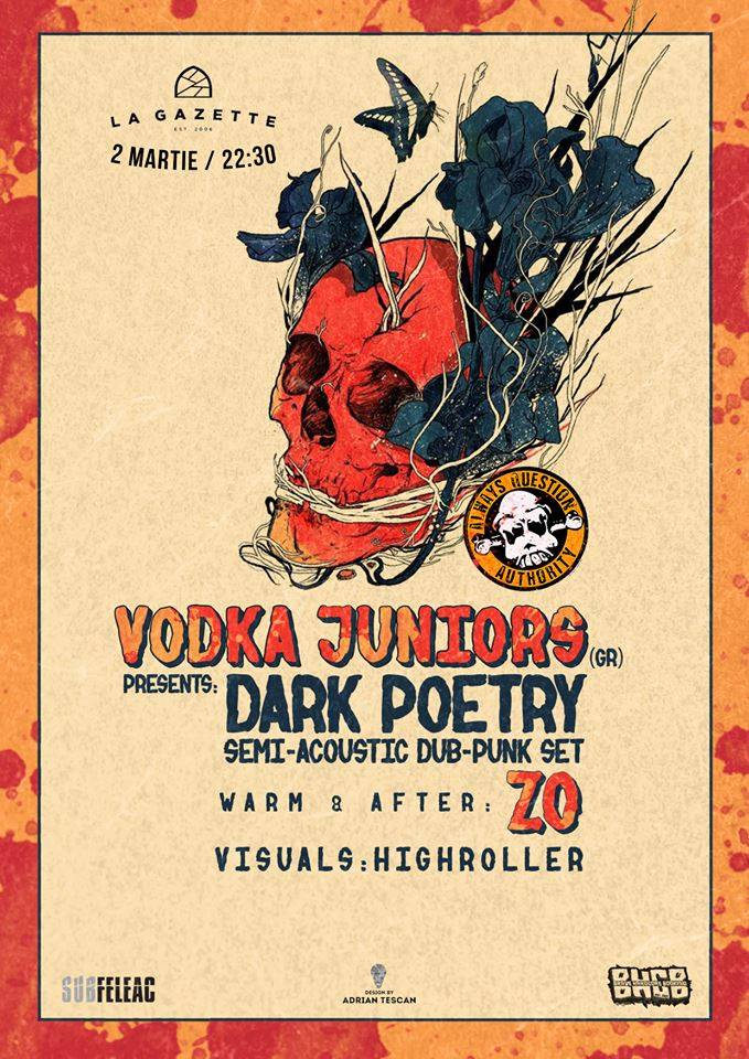 Vodka Juniors presents: Dark Poetry @ La Gazette