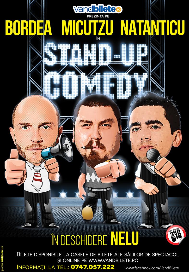 Stand-up Comedy cu Bordea, Micutzu și Natanticu