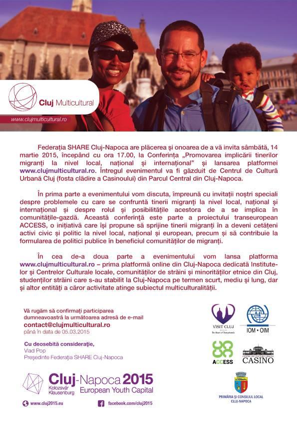 Promovarea implicării tinerilor migranţi la nivel local, național şi internațional