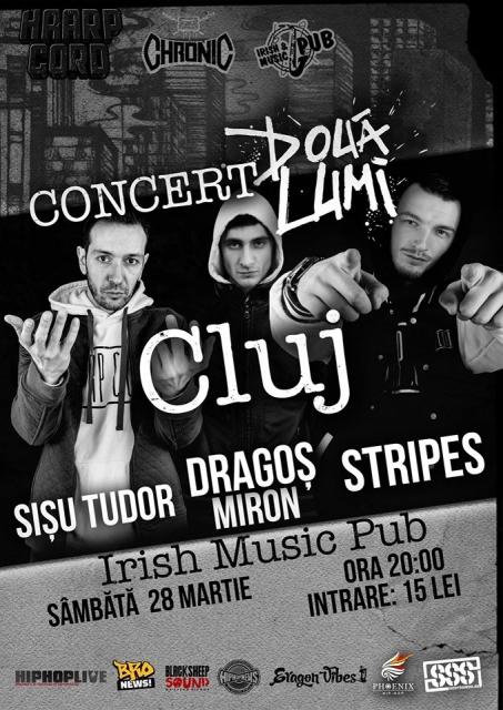 """Concert Lansare: Stripes & Dragos Miron – """"Doua Lumi"""""""