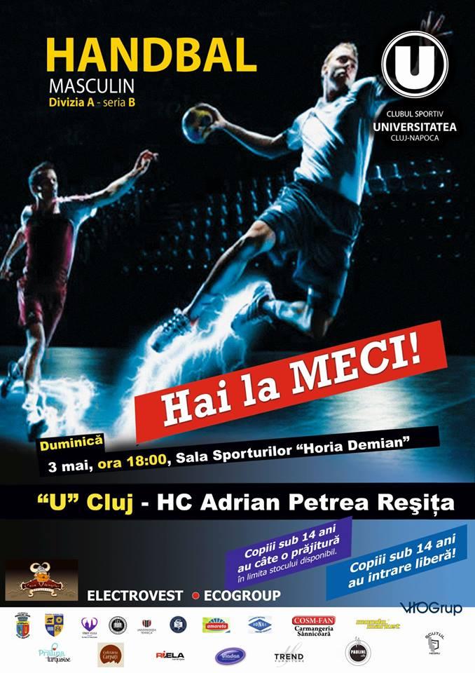 """""""U"""" Cluj versus HC Adrian Petrea Reşiţa"""