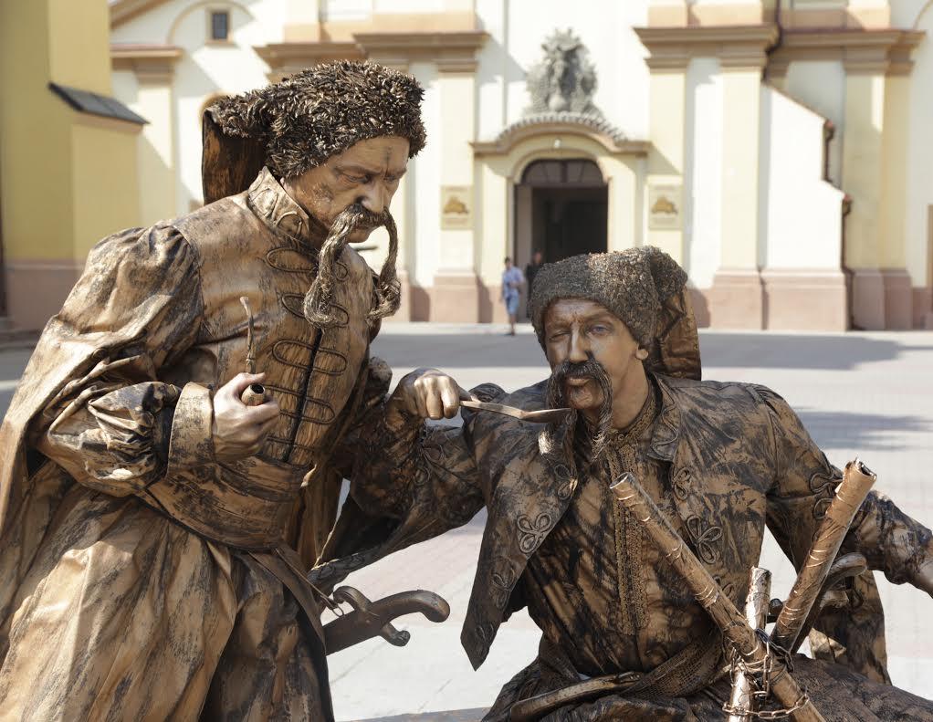 Clujul a devenit, pentru câteva zile, centrul european al statuilor vivante