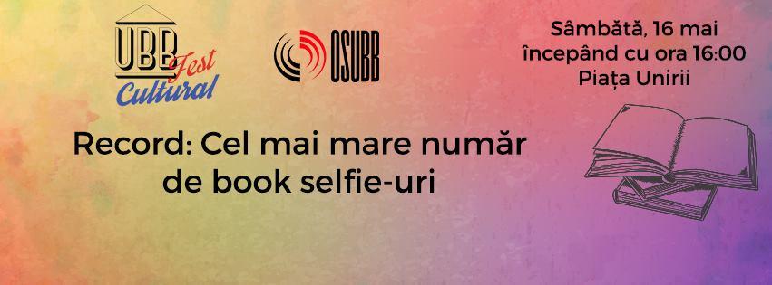 Cel mai mare număr de book selfie-uri @ UBB Fest