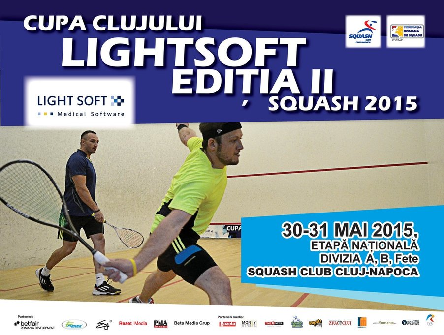 Cupa Clujului Light Soft la Squash 2015 – Ediţia a II-a
