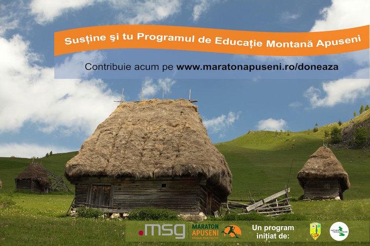 Donează pentru Programul de Educatie Montana Apuseni