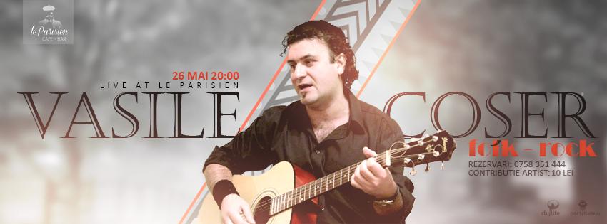 Seară de folk – rock cu Vasi @ Le Parisien