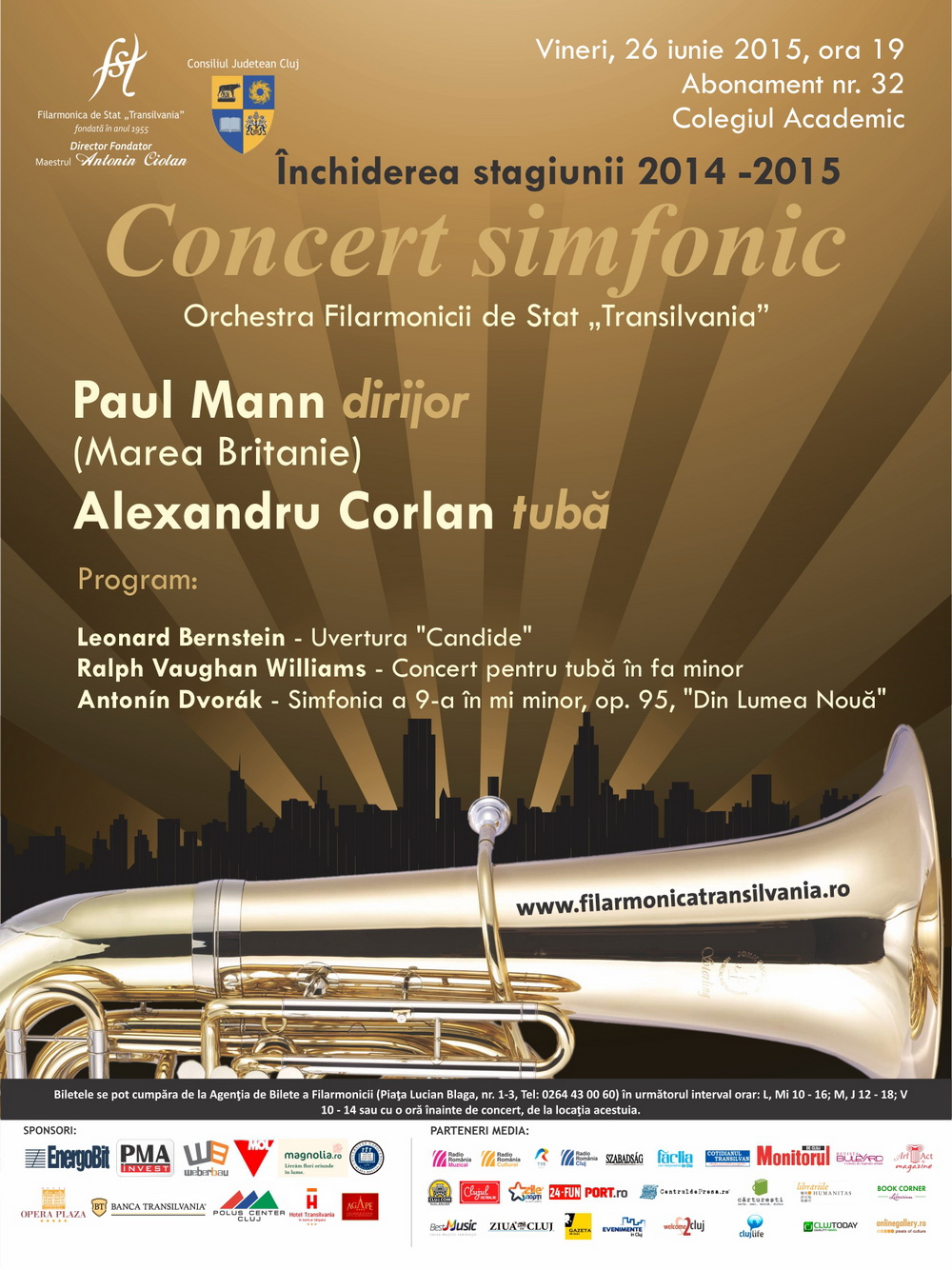 Concert Simfonic sub bagheta dirijorului Paul Mann