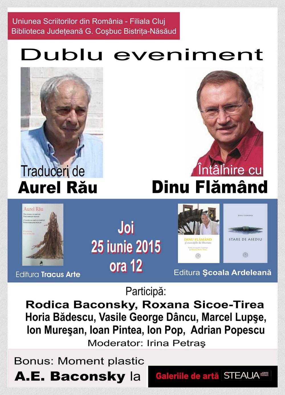Întâlnire cu Aurel Rău şi Dinu Flămând la USR Cluj