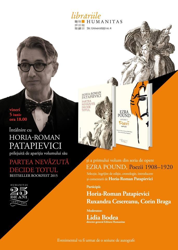 Întâlnire cu Horia-Roman Patapievici @ Librăria Humanitas
