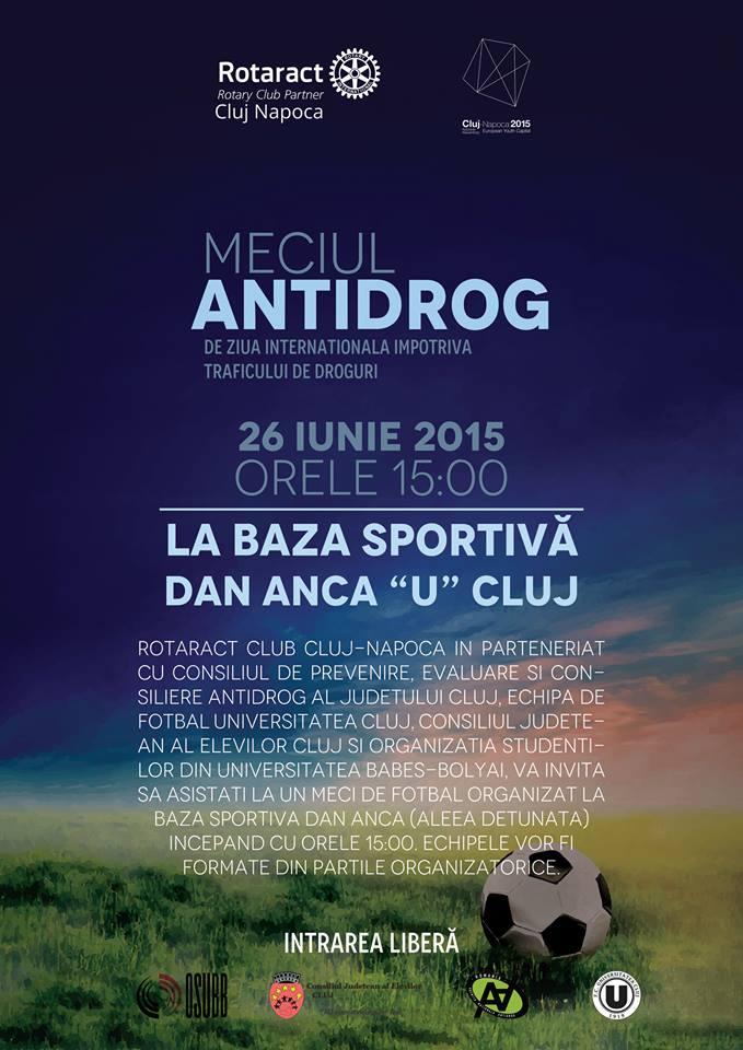 "Meci Antidrog @ Baza Sportivă ""Dan Anca"""