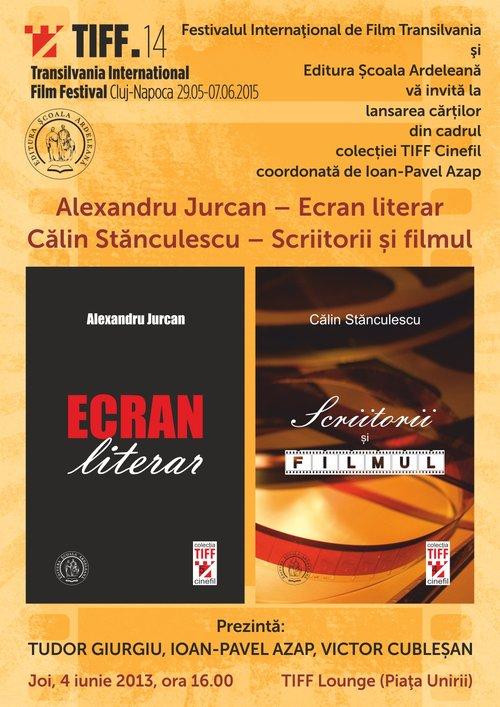 Lansări Editura Școala Ardeleană la TIFF